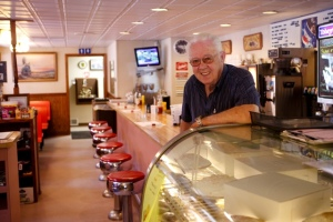 Larry Way at Miller's Diner, photo by Abram Eric Landes