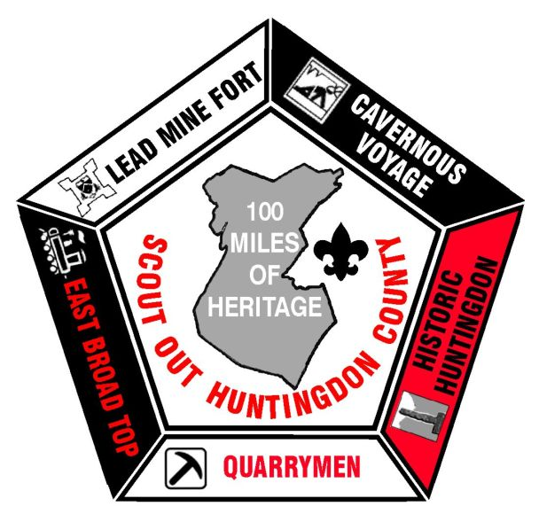 Scout Out Huntingdon County heritage trail award patch