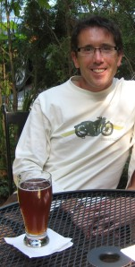 Ken Hull with a beer at Selin's Grove Brewing