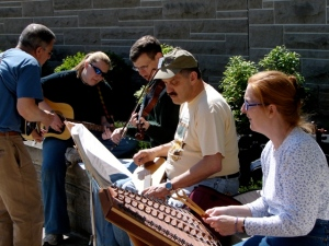 One of many jam sessions at Folk College, Huntingdon, PA photo by Johanna Ballreich