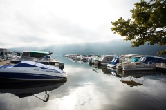 Raystown Lake glassy at Seven Points Marina photo by Abram Eric Landes, aelandesphotography.com