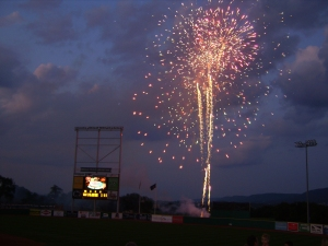 Fireworks at Medlar Field at Lubrano Park, State College, PA by Matt Price