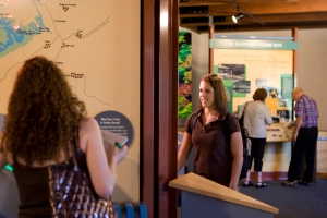 Raystown Lake Region Visitors Center Exhibition Area (photo by Bruce Cramer)