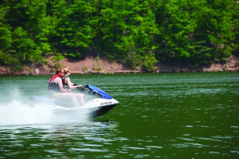 Personal watercraft on Raystown Lake, photo by Kevin Mills.