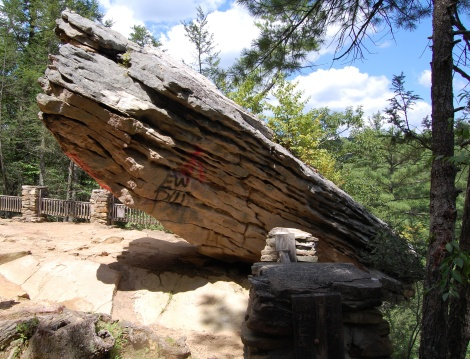Balanced Rock at Trough Creek State Park. Photo by Ed Stoddard.