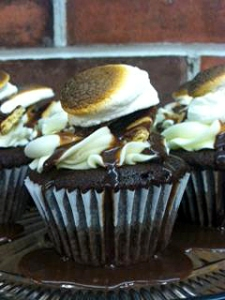 S'mores cupcakes at Sweethearts Confectionary.
