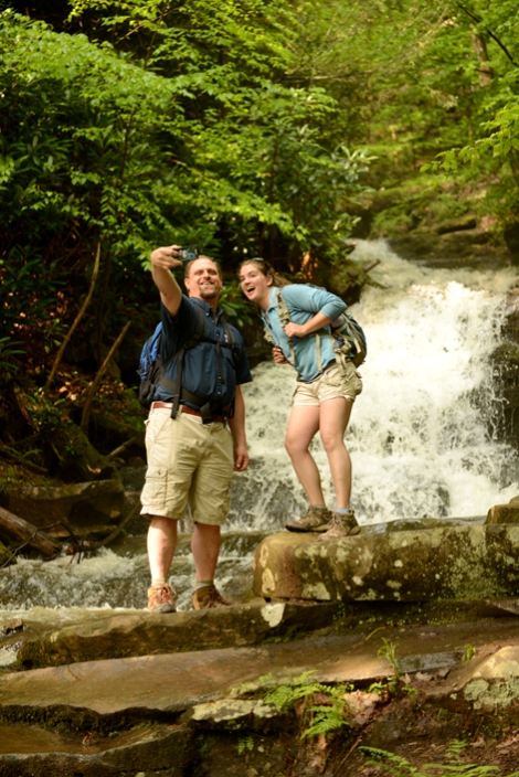#Raystownselfie at Rainbow Falls. Photo by Michael Reed.